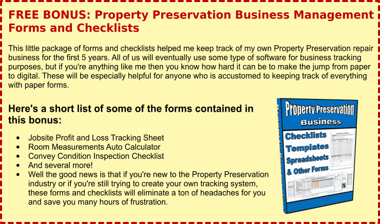Property Preservation Bonus