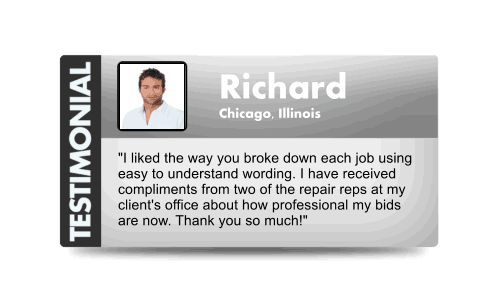 Customer testimonial 1