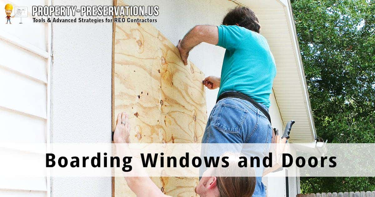 Boarding Windows and Doors